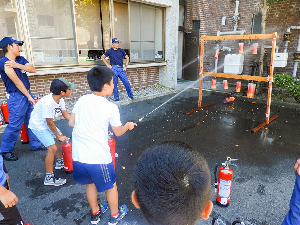 夏休み消防一日体験学習